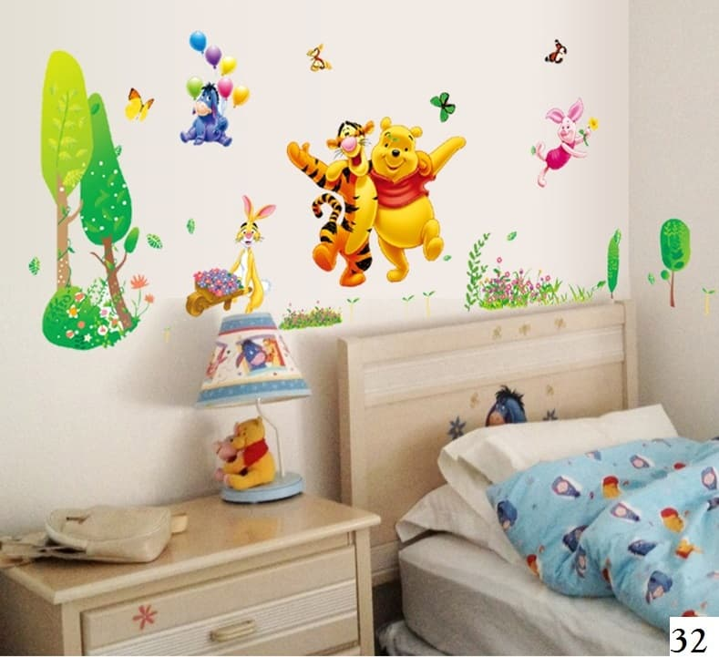 Jual Wall Sticker / Wall Stiker / Wallsticker / Dinding 32 Winnie The Pooh - Eldorado Wall Sticker | Tokopedia