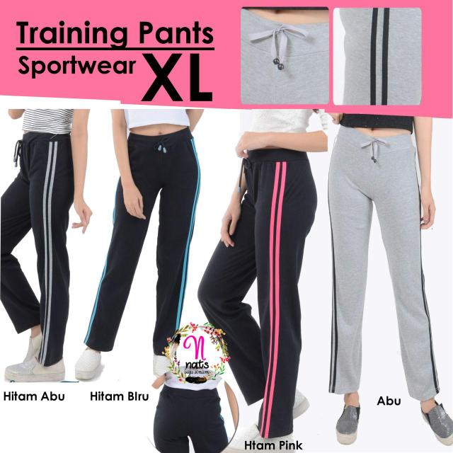 Training Pants XL Celana Running Pants Celana Lari Gym Olahraga Wanita