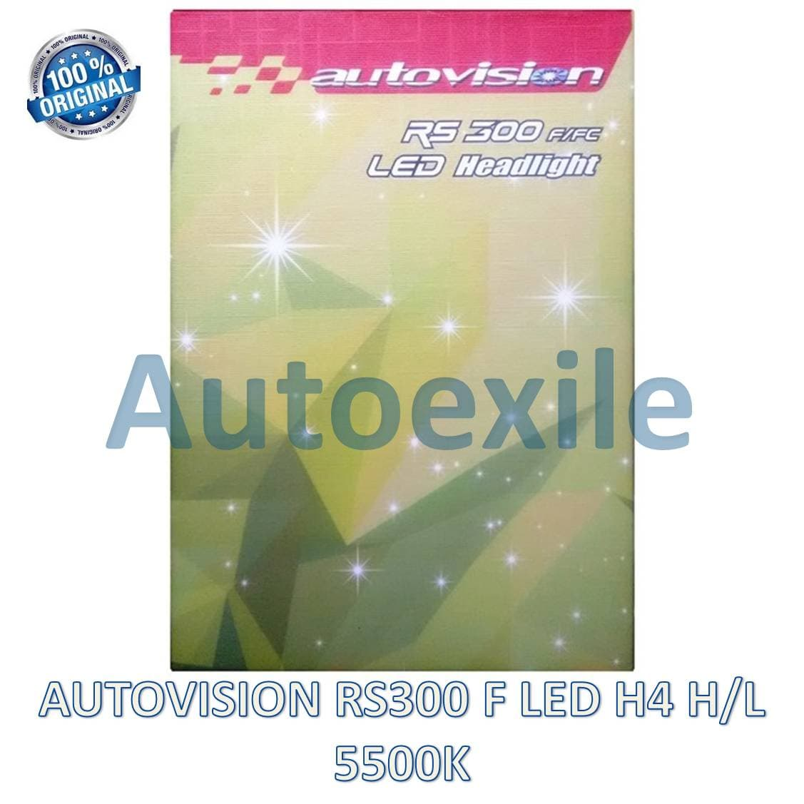Autovision RS300 F LED H4 H/L 30W 5500K Putih Seoul RS-300 Lampu Mobil