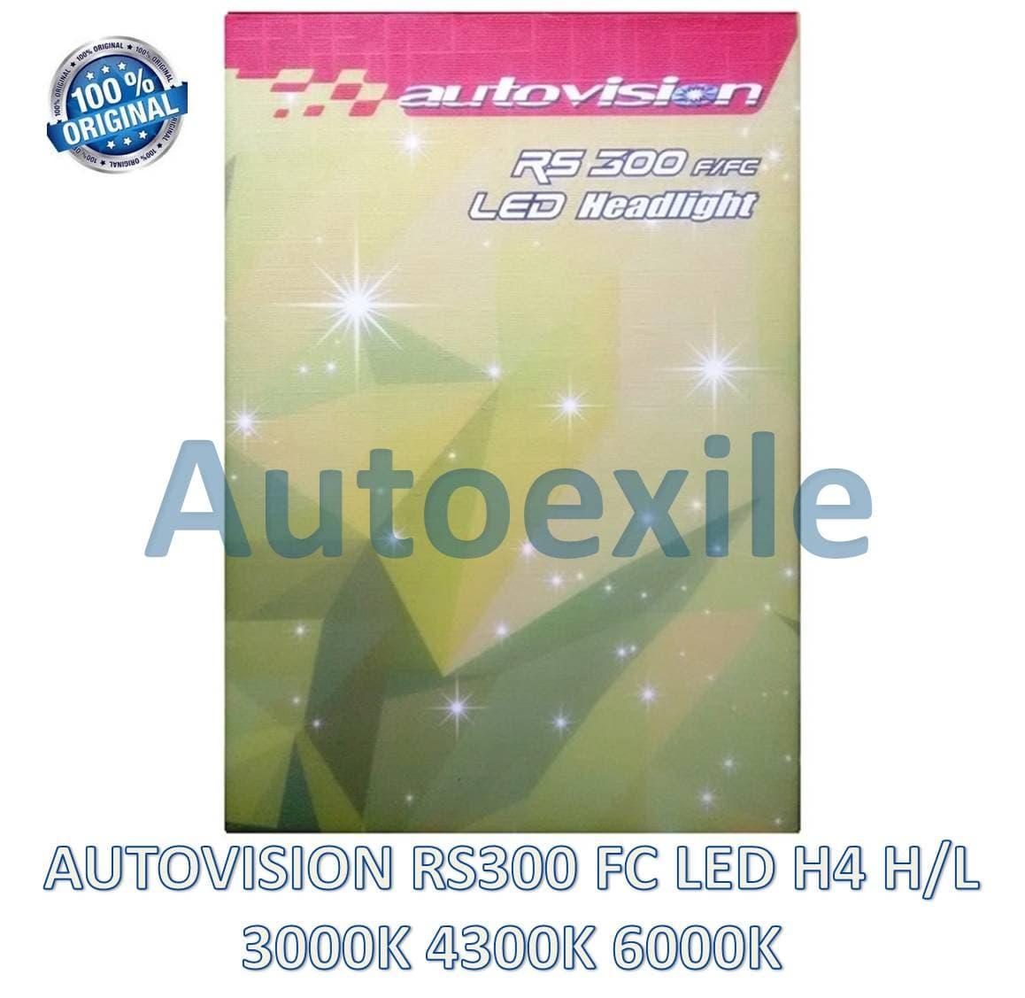 Autovision RS300 FC LED 3 Warna H4 3000K 4300K 6000K Seoul RS-300 Lampu Mobil