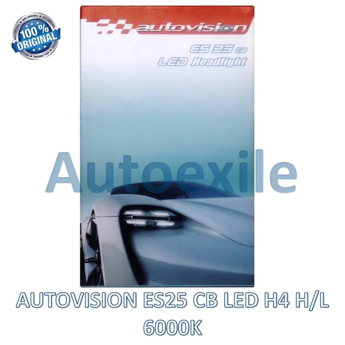 Autovision ES25 CB LED H4 H/L 25/50W 6000K Putih Epistar ES-25 Lampu Mobil