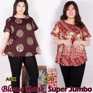 Blouse Batik Super Jumbo Bigsize Baju Atasan Wanita Big Berkualitas
