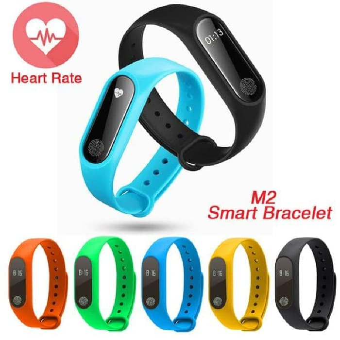 harga Smartwatch M2/smart Bracelet M2 With Heart Rate Monitor & Pedometer Blanja.com