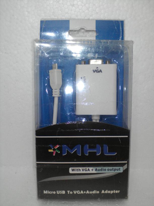 Micro USB to VGA + Audio MHL 5 Pin