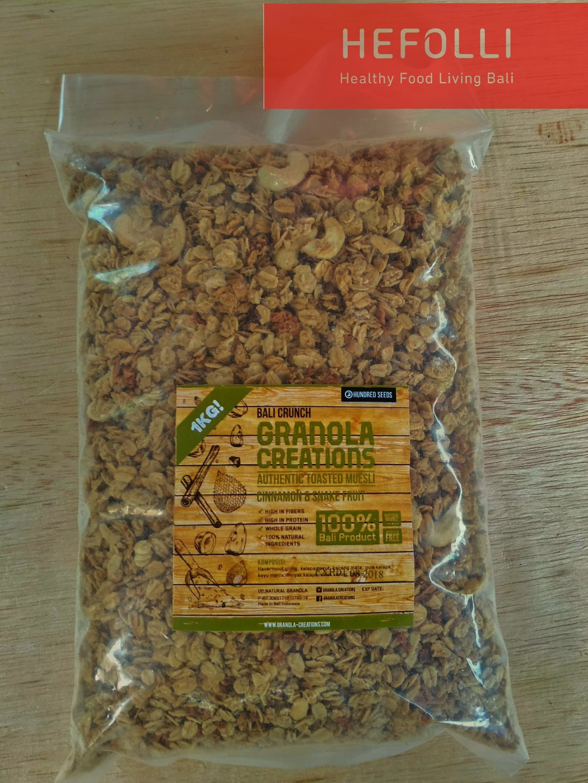 Jual Granola Creation 1000 Grm Cinnamon Snake Fruit Bali Creations Crunch Hefollibali Tokopedia