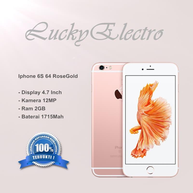 IPHONE 6S 64GB ROSEGOLD - GARANSI TOKO - Merah Muda