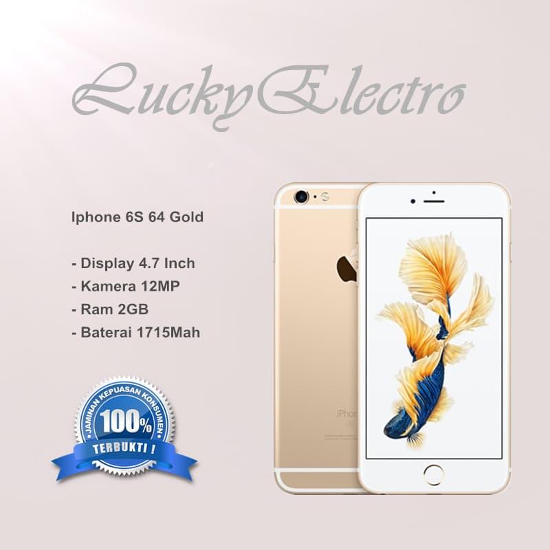 IPHONE 6S 64GB GOLD - GARANSI TOKO - Emas