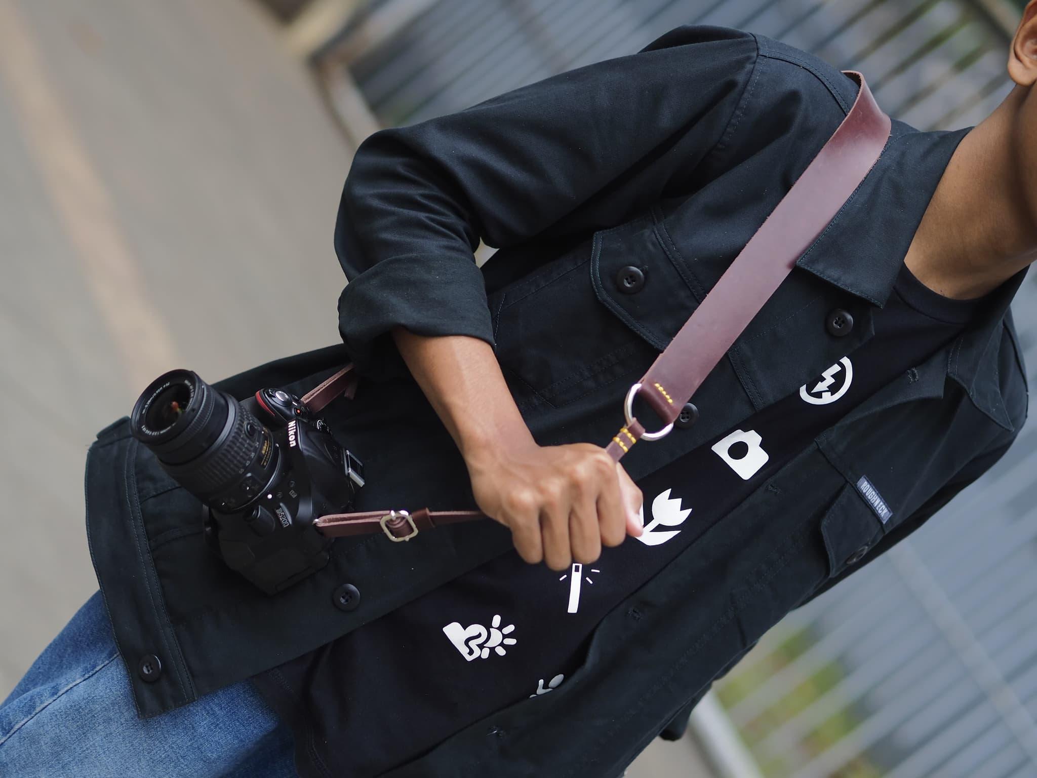 Strap Camera / Neck Strap / Tali Kamera / Molea Leather Strap - Blanja.com