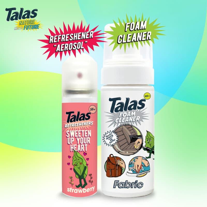 Talas Foam Cleaner Fabric (Pembersih) & Talas Refreshener Aerosol Strawberry (Pengharum) - Blanja.com
