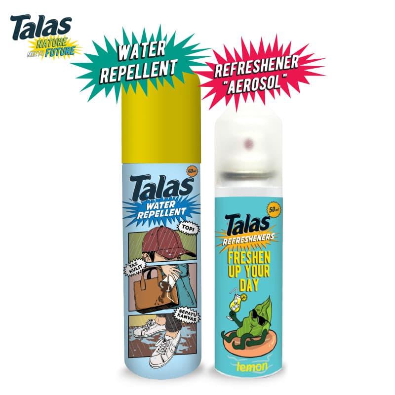 New Talas Water Repellent (Pelindung Anti Air) & Talas Refreshener Aerosol Lemon (Pengharum) - Blanja.com