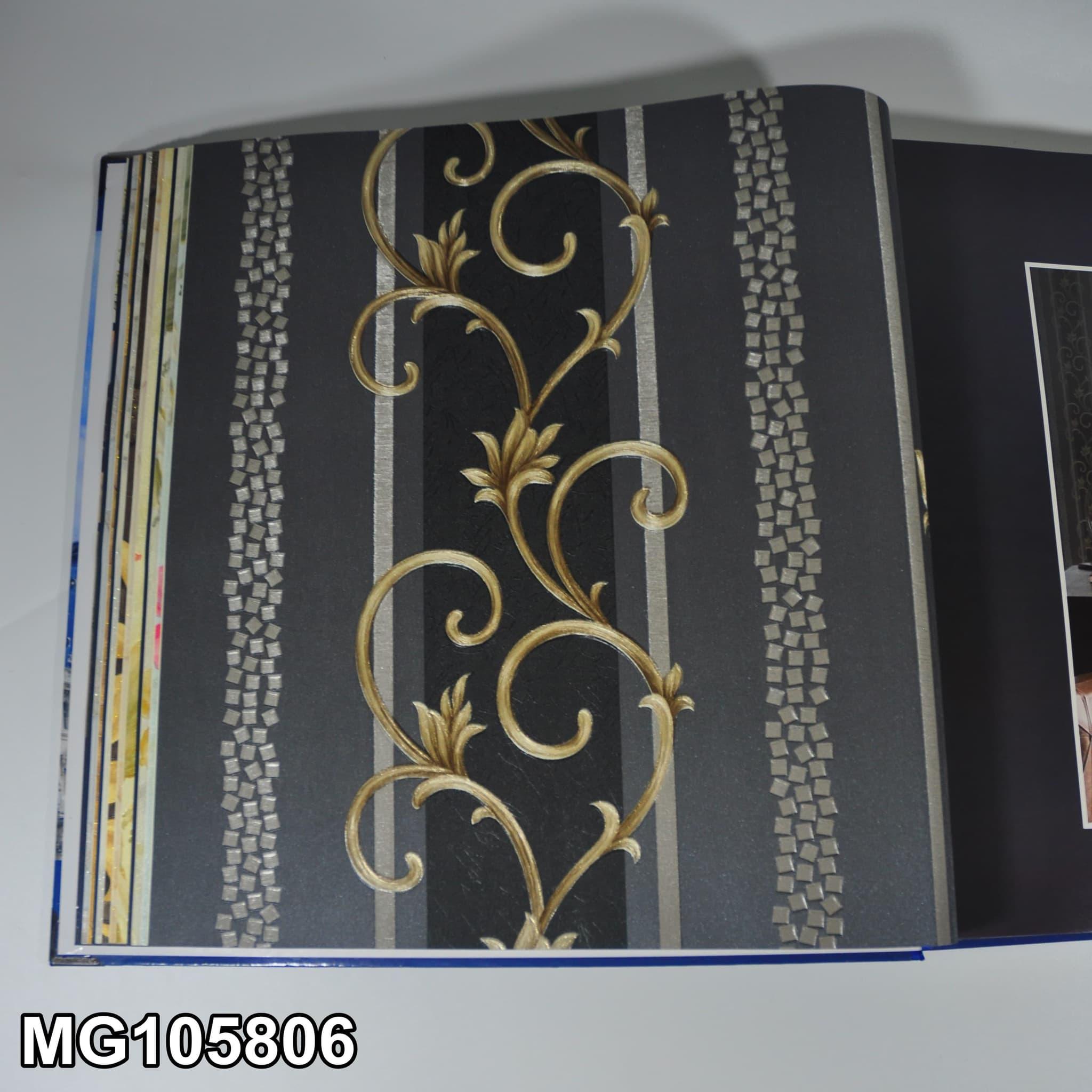 Wallpaper Dinding Motif Rose Line Elegan Klasik