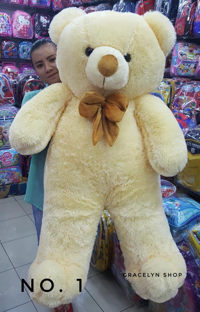 Jual boneka teddy bear besar super jumbo crem putih - gracelyn shop ... 5ef2484d7c