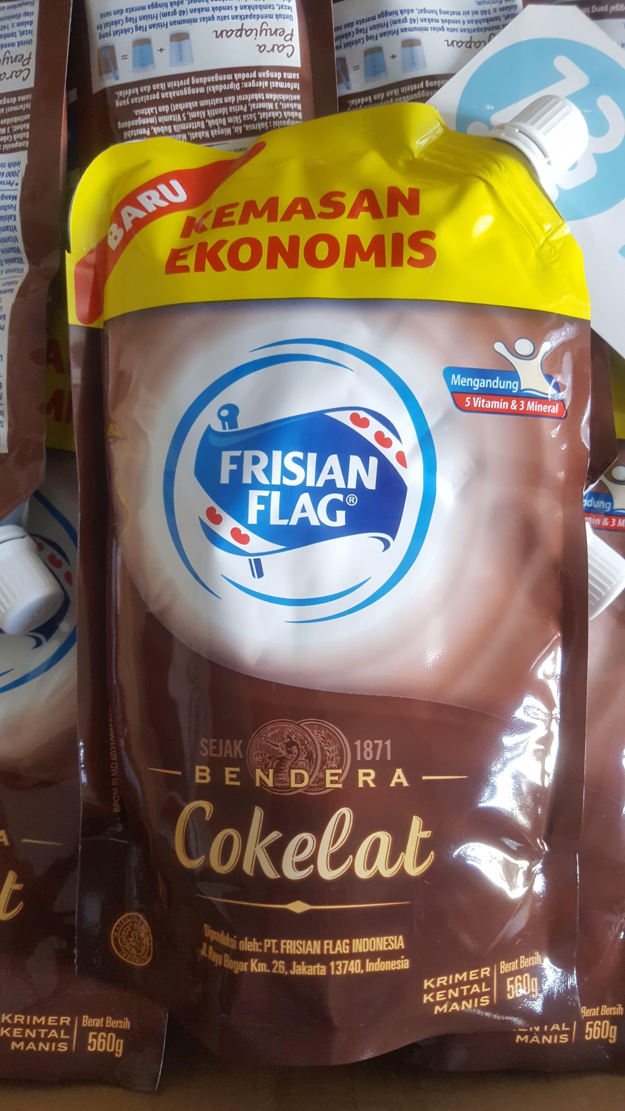 Frisian Flag Susu Kental Manis Cokelat Pouch 560gr Daftar Harga Bendera Scm Choco 490 Gr Kemasan Ekonomis