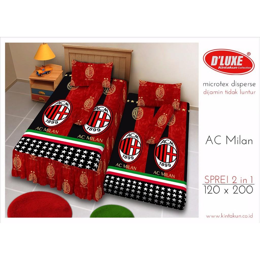 Jual Sprei Single 2in1 Kintakun Deluxe Sorong motif AC Milan - Tupperware Gabe | Tokopedia