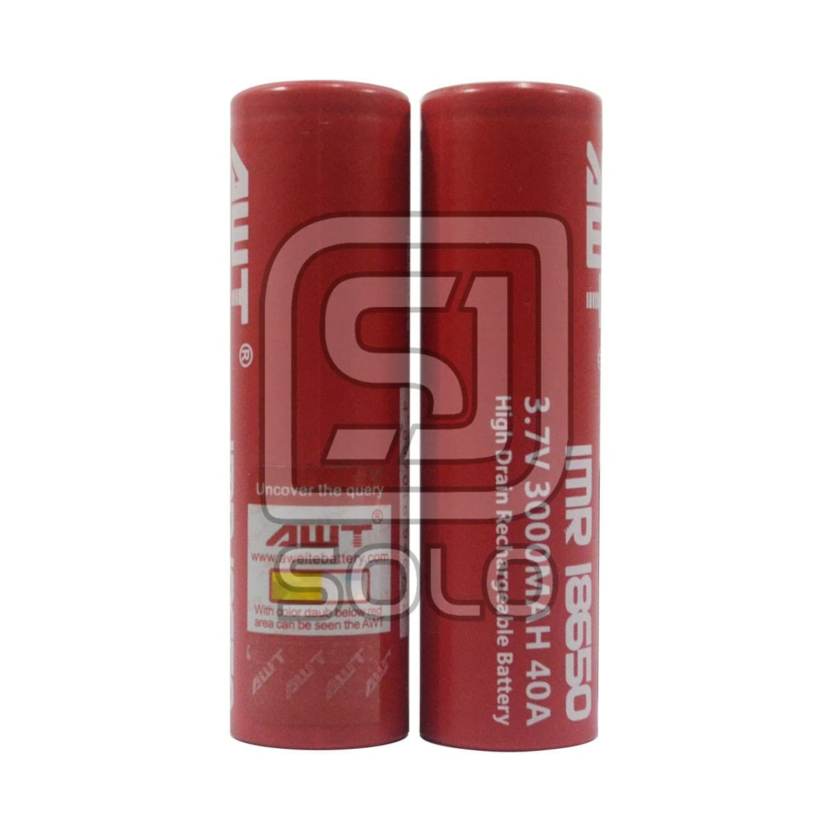 Jual Baterai Awt 18650 Imr 3000mah 40a Authentic Battery Original For Vape Merah