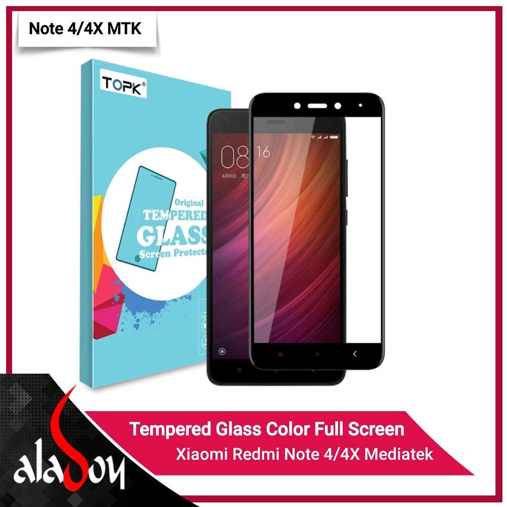 Jual Tempered Glass Xiaomi Redmi Note 4 4x Mediatek Aladoy Shop Full Color Acc Tokopedia