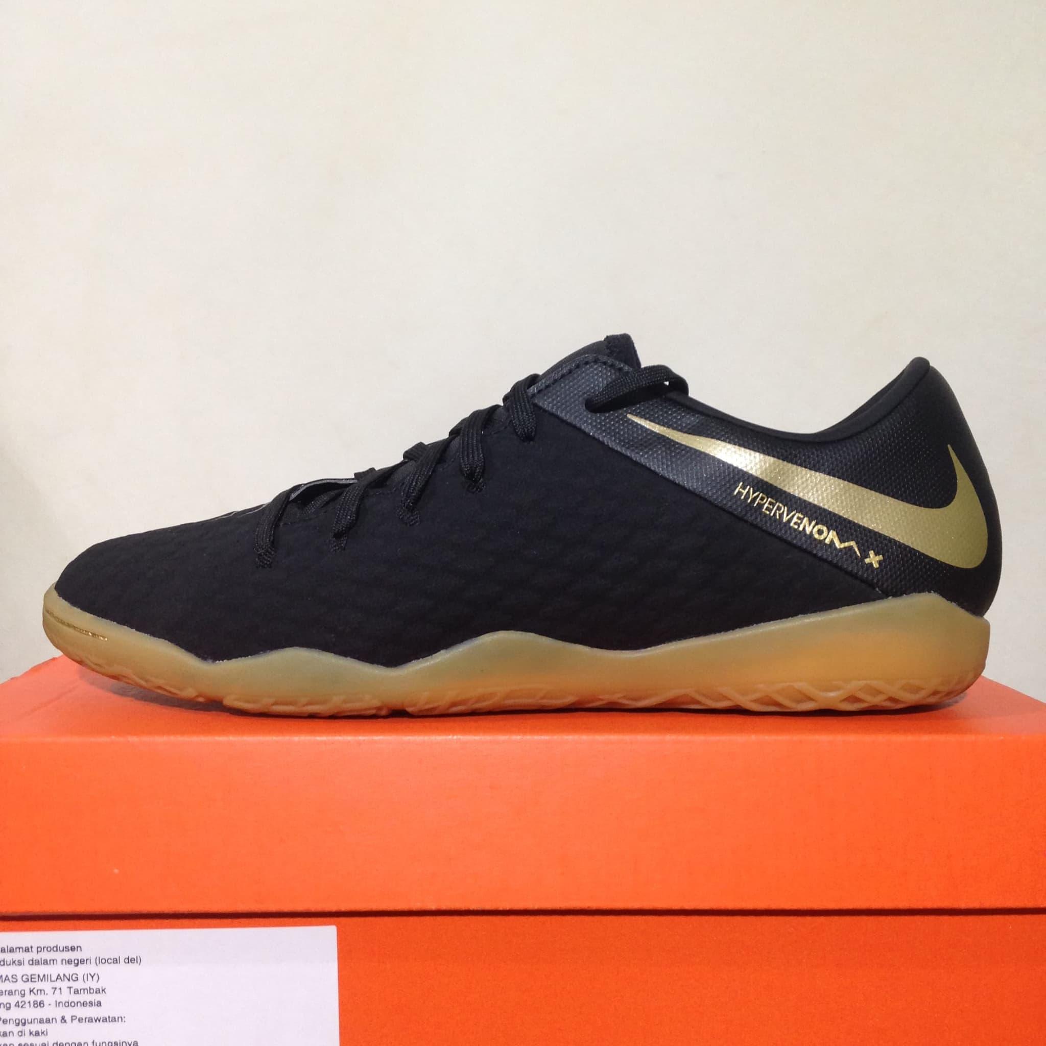 Jual Sepatu Futsal Nike Phantom X 3 Academy Ic Black Gold