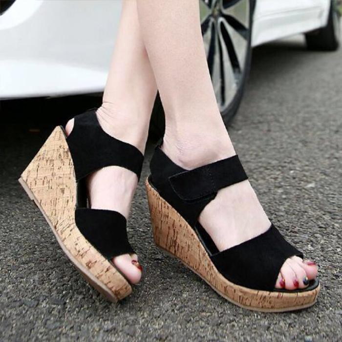 Sandal Wanita Wedges Terbaru SDW225 I sepatu sendal wedges wanita cewe .