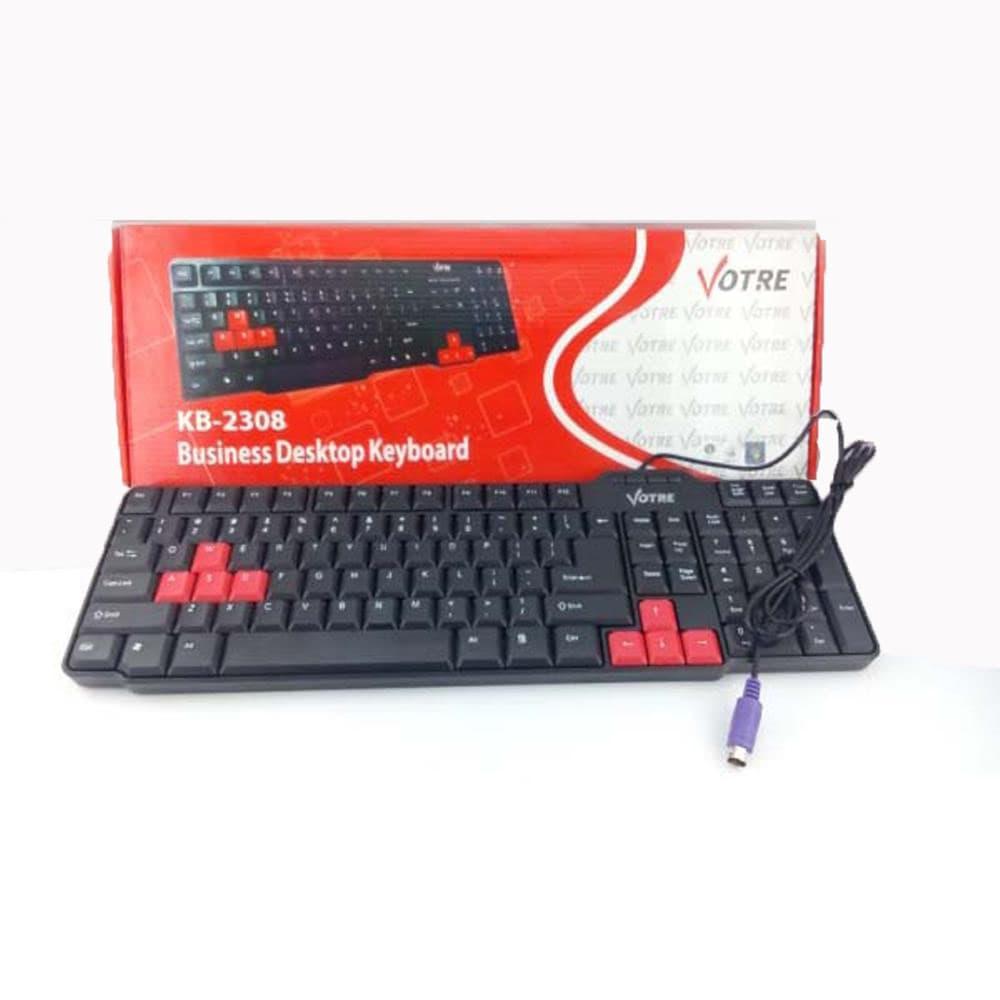 Jual Votre Kb 2308 Keyboard Ps2 Basic Usb Kb2308 Hitam