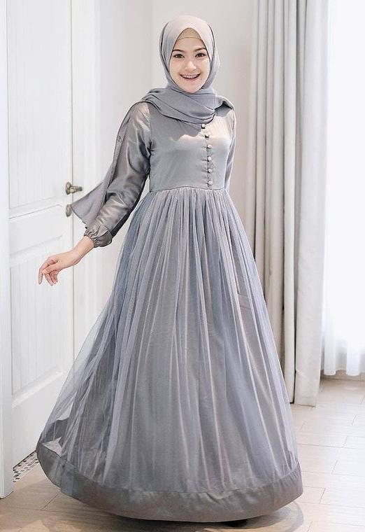 Jual Dress Gaun Baju Tutu Wanita Mewah Pesta Pernikahan Seragam Maxi