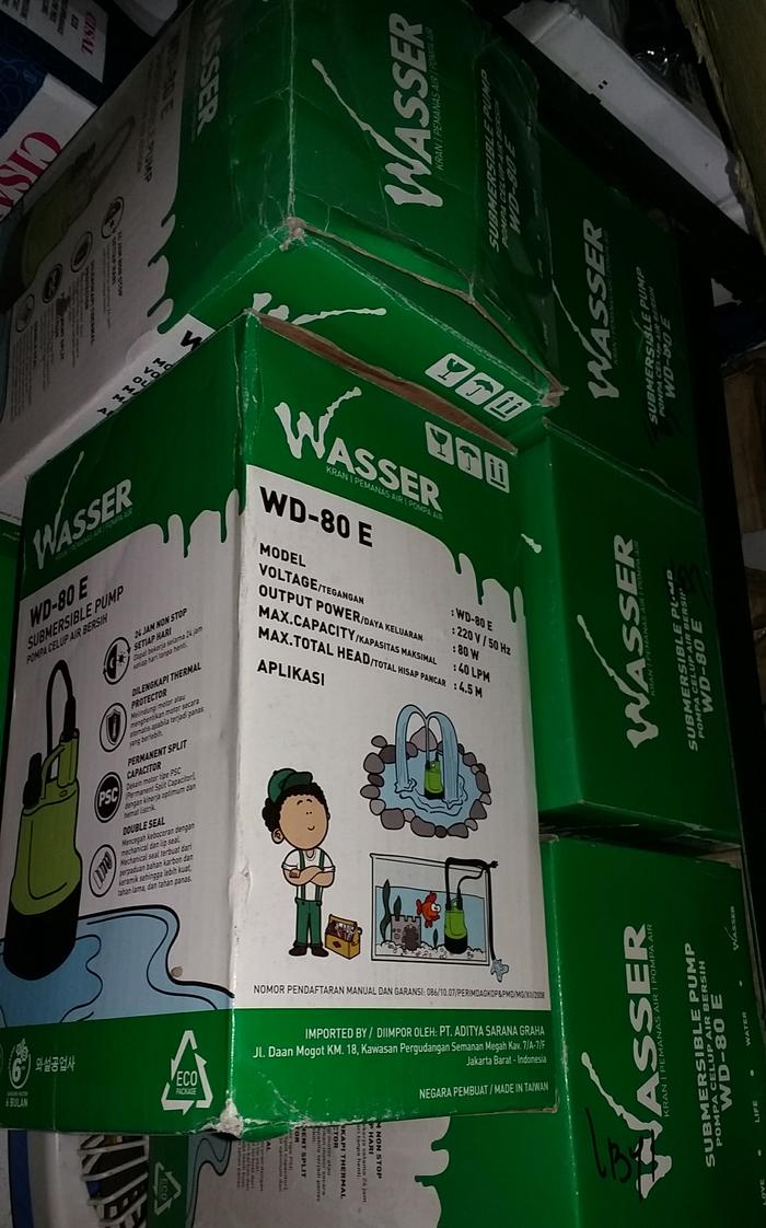 Pompa celup wasser air bersi WD-80 E pompa air wasser
