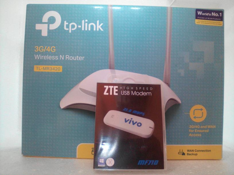 PAKET Wireless N Router TL - MR3420 dengan Modem USB 3G All GSM