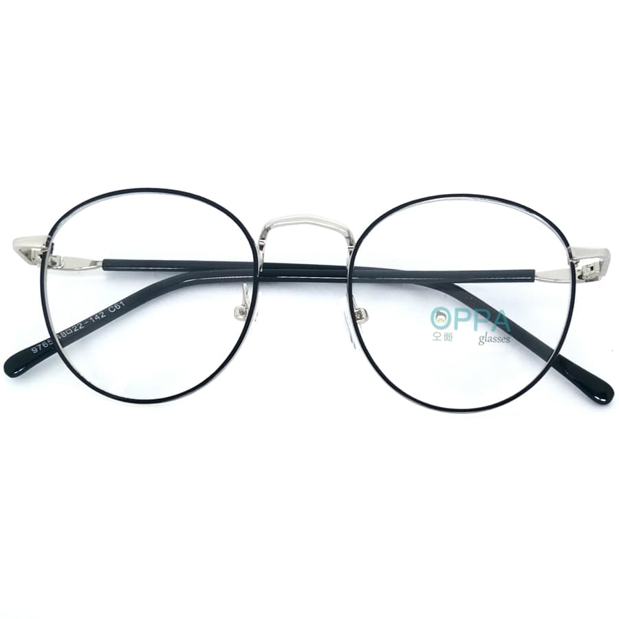 Jual Frame Kacamata Korea Pria Wanita OPPA OP02 BLSV Hitam Bulat Fashion -  Oppa Glasses  9c60aaa1d8