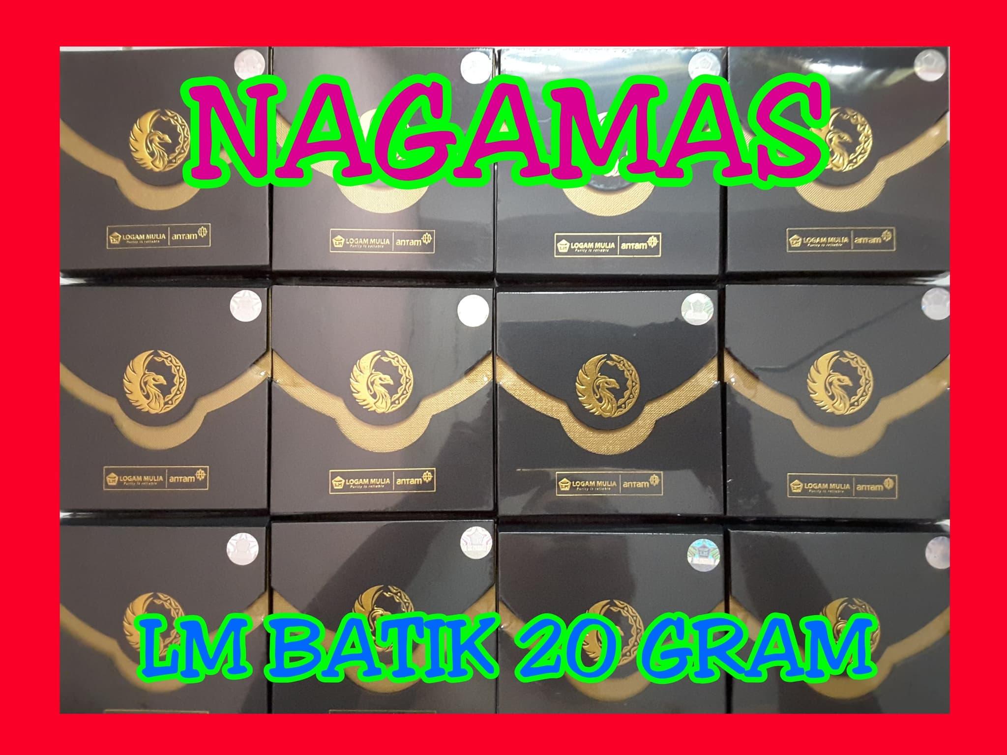 Jual Lm Antam Seri Batik 20 Gram Logam Mulia Emas Batangan Voucher Belanja 7 Nagamas Tokopedia