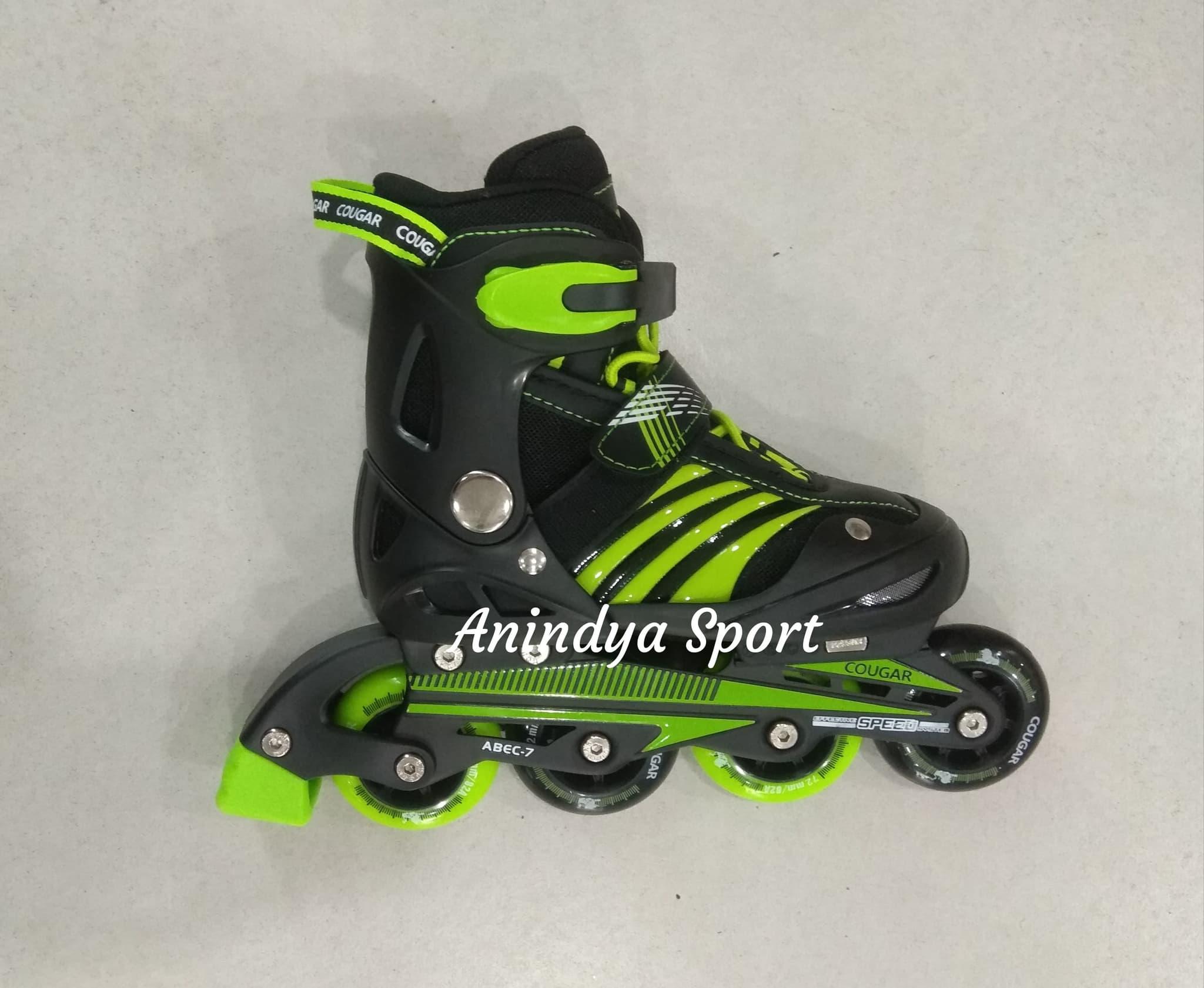 Jual Inline Skate  Sepatu Roda Cougar MZS68FB BK-GR - Anindya Sport  80177d558b