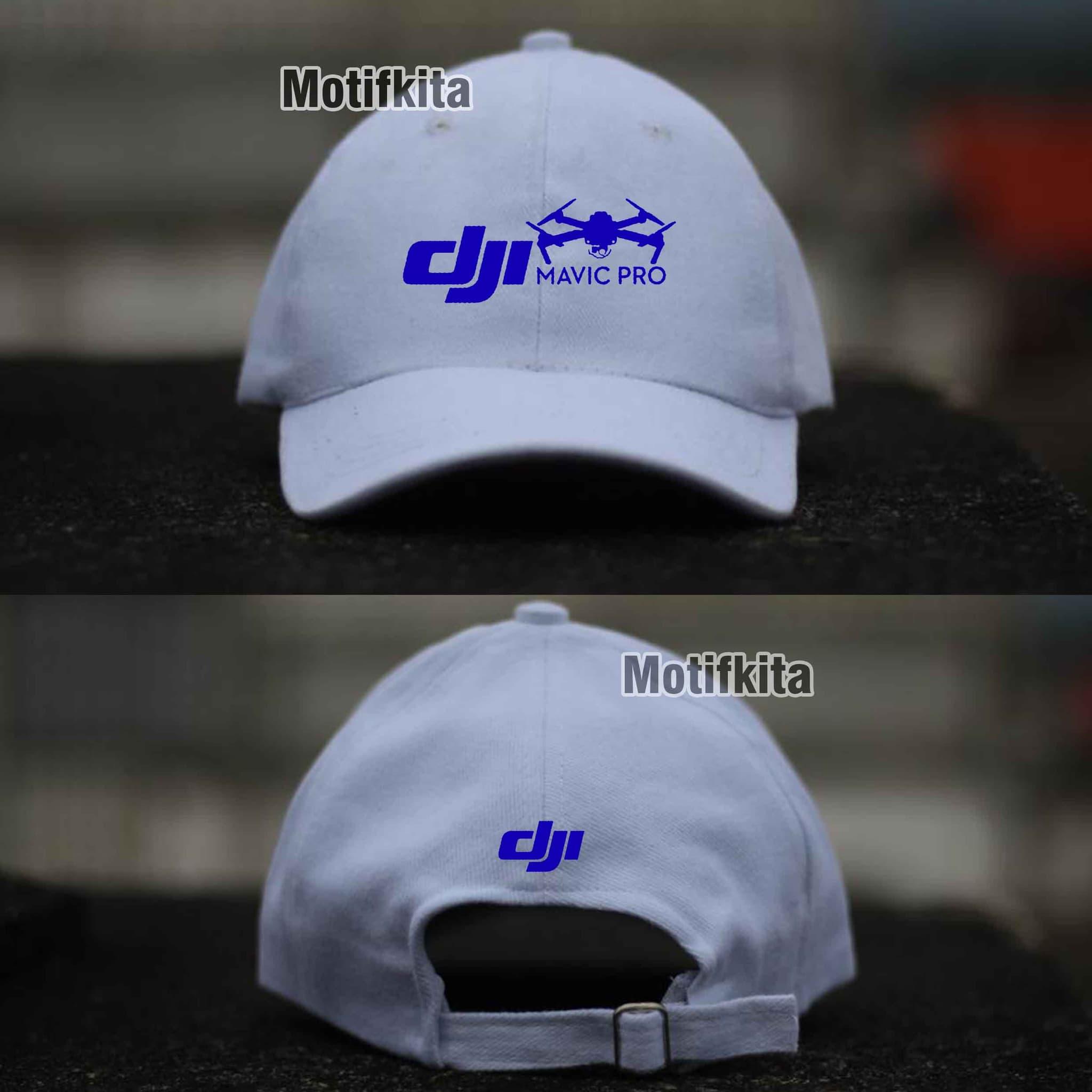 PENAWARAN Topi Baseball DJI MAVIC PRO putih keren Costumerch d69bffee36