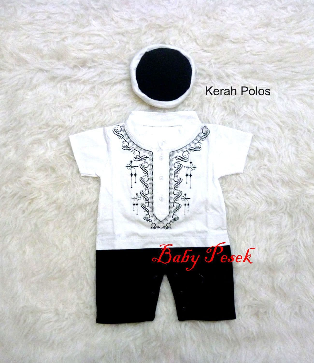 Baju Romper Jumper Koko Muslim Anak Bayi Laki-Laki