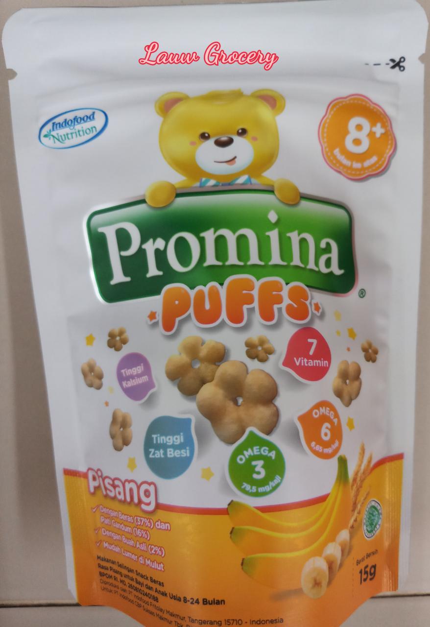 Jual Promina Puffs Usia 8 15gram Snack Bayi Makanan Biskuit Puff Pisang Lauw Grocery Tokopedia