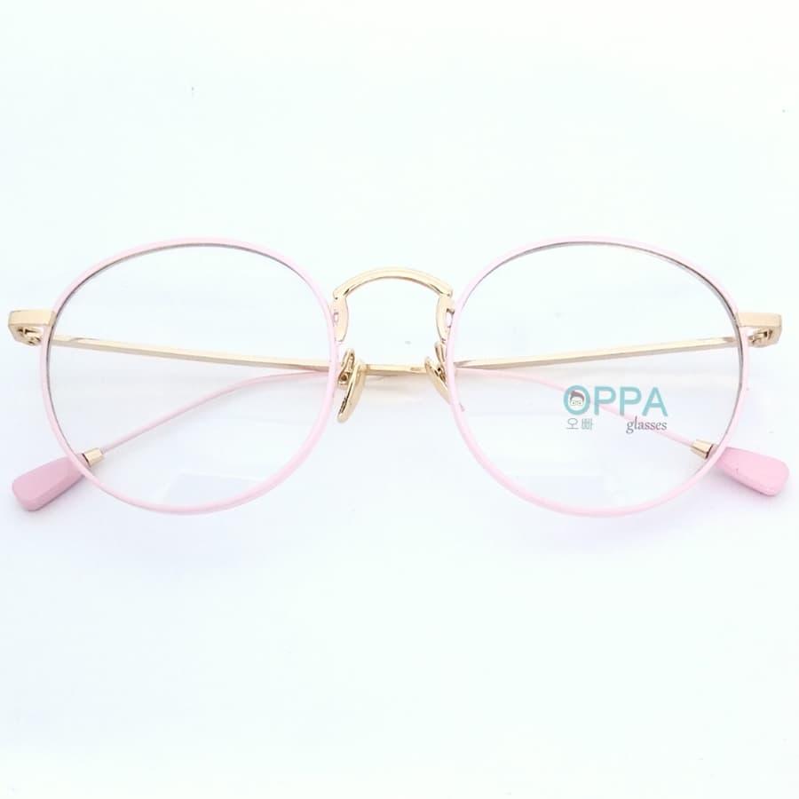 Jual Frame Kacamata Korea Pria Wanita Minus Op27 Pk Bulat Transparant