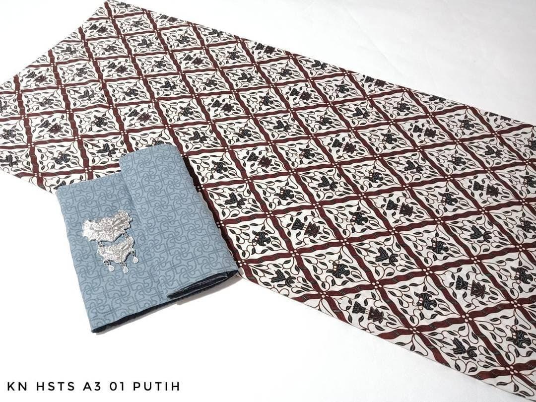 Segini Aja Harga Kain Batik Embos Terbaru 2018 Dan Pekalongan Hsts A3 01 Putih