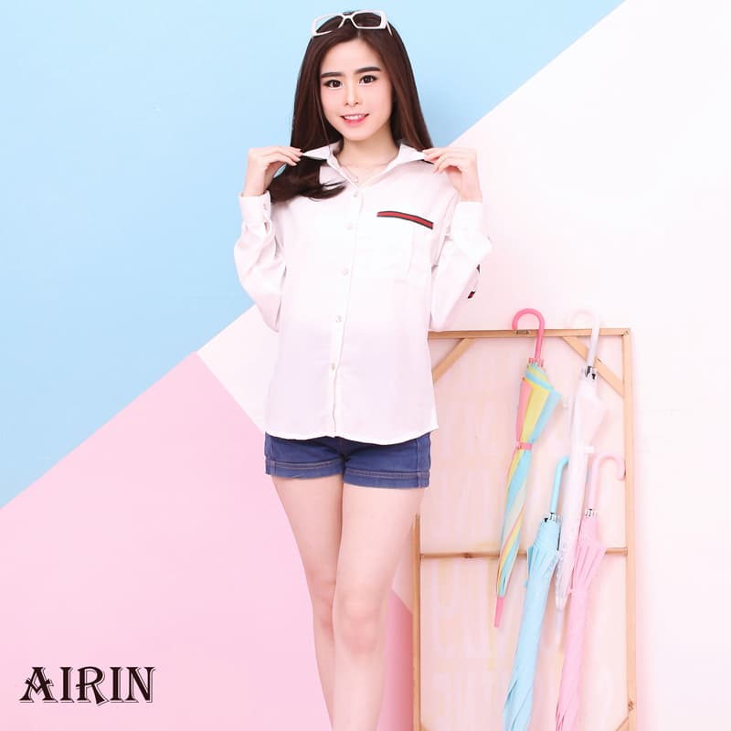 AIRIN TOP - Atasan  Blouse Modern Wanita Premium HQ - Blanja.com