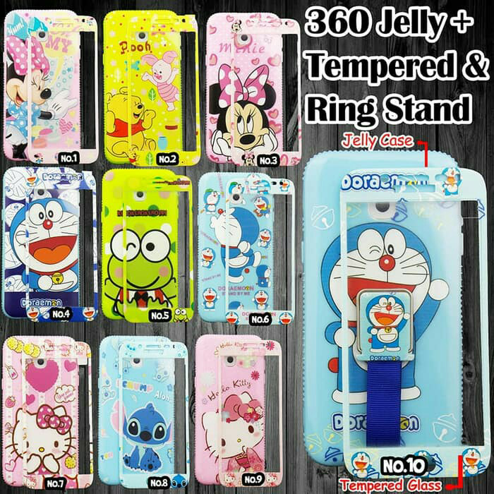 various colors c9a95 2c46c Jual 360 Jelly Case + Tempered dan Ring Stand For Xiaomi Redmi Note 5A -  Friends_Acc | Tokopedia
