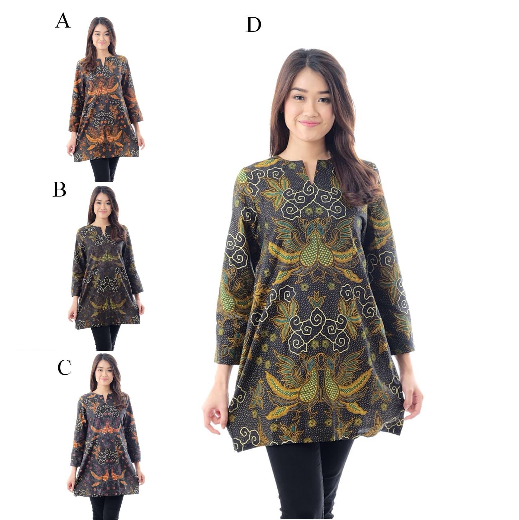 Katalog AAK345 Blus Batik Kerja Bahan Katun Atasan Baju Wanita Murah ... 454ad67efa