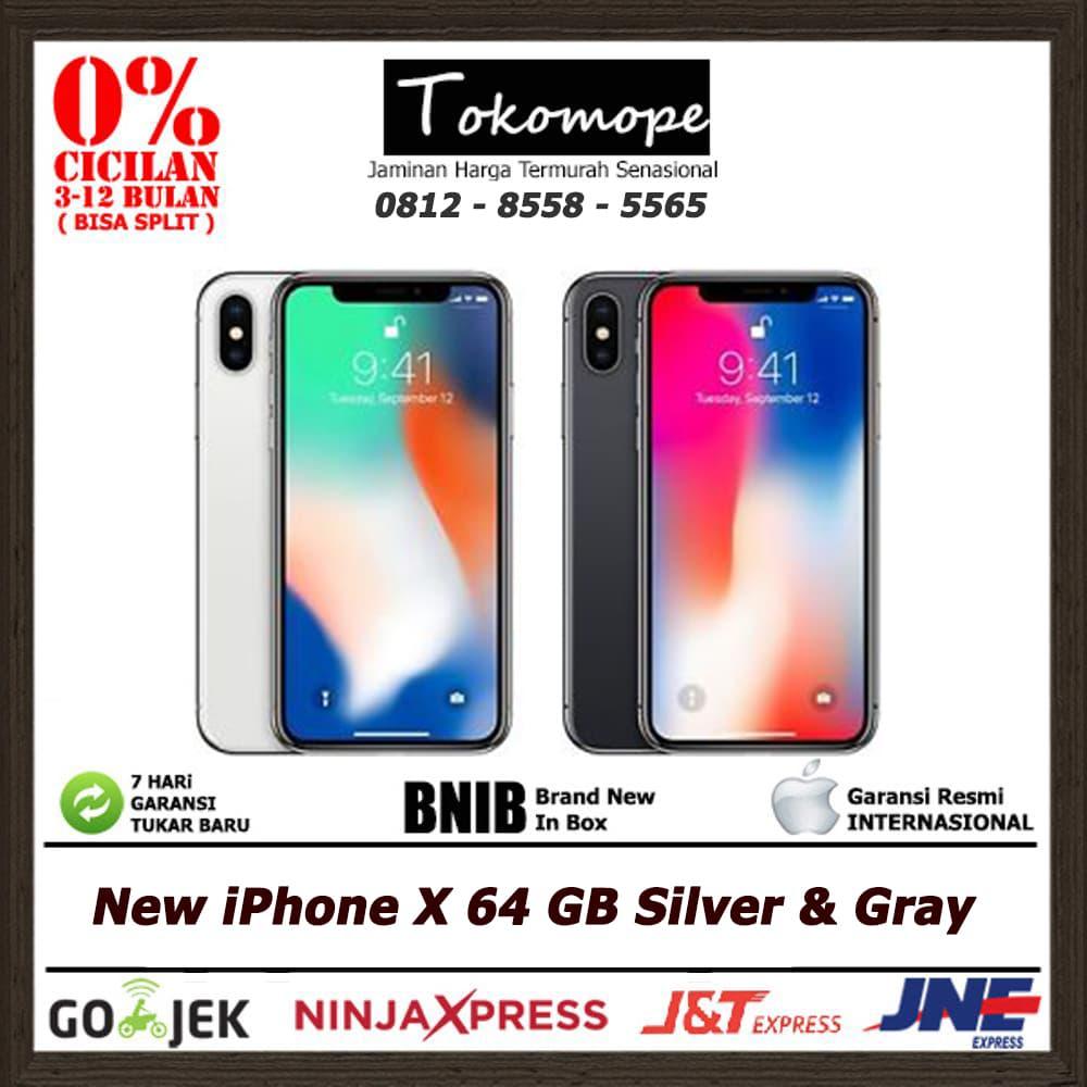 Jual Iphone X 64 Gb Silver Gray 7 32 Garansi Resmi