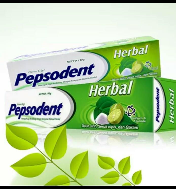 Jual Pepsodent Herbal Odol Pasta Gigi Jeruk Nipis Daun Sirih Dan