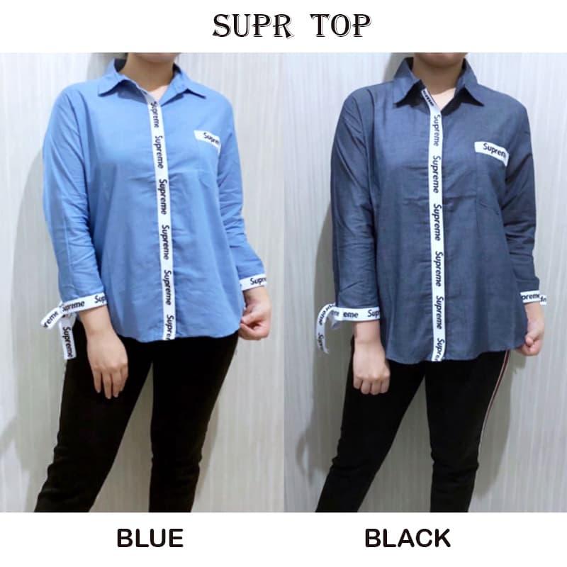 SUPR TOP - Atasan Batik Blouse Batik Modern Wanita Cheongsam Premium - Blanja.com