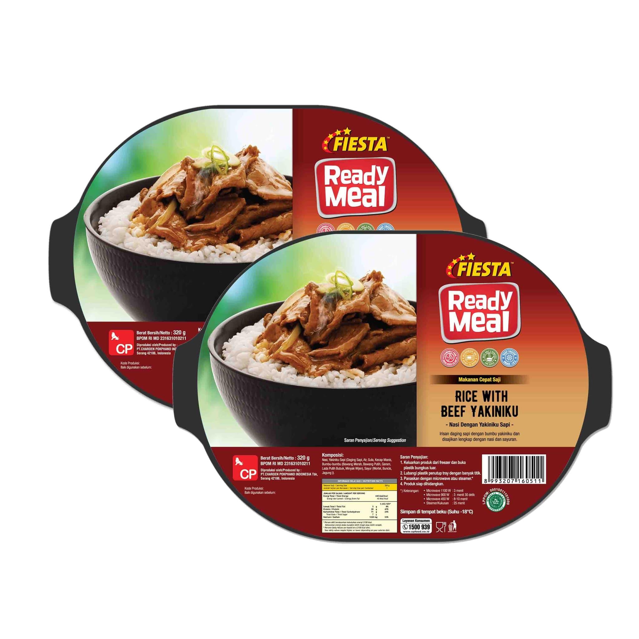 Promo Fiesta Ready Meal Beef Yakiniku 6pcs  (Mohon Segera Dikonsumsi)