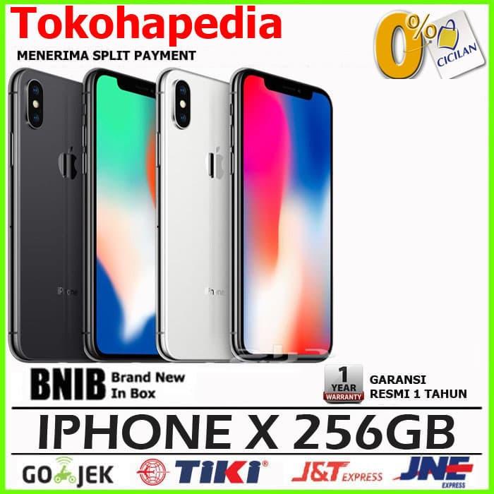 Garansi Resmi - Iphone X 256gb / 256 Gb Silver, Black / Space Grey - Silver - Blanja.com