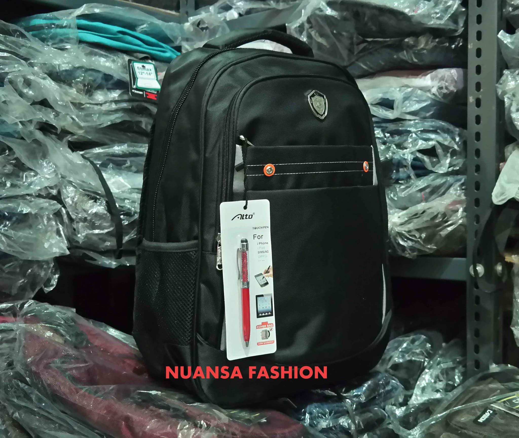 Backpack Tas Ransel Laptop ALTO 72033 Ori  Free Raincover