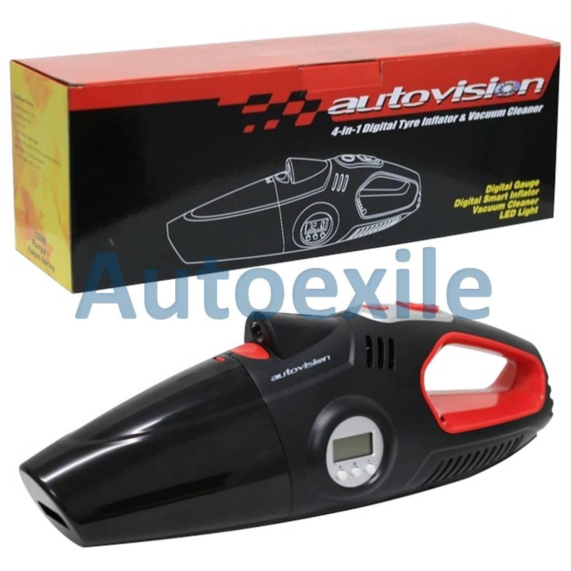 Jual Autovision 4in1 Kompresor Mini Pompa Ban Elektrik Dc12v Vacuum Angin Cleaner Pengukur Tekanan Digital Senter