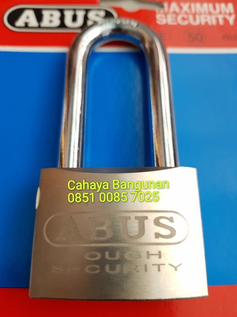 Jual Gembok Abus 50mm 50 Mm Baja Leher Panjang Maximum Security Lock Cahaya Bangunan Tokopedia