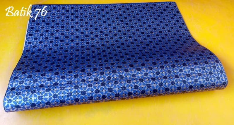 Kertas Kado Handmade Premium Packing Kado Wrapping Paper Batik Semanggi Biru - Blanja.com