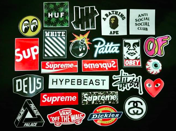 e83aaeb2f5a26 Jual Hypebeast Decal Sticker (Supreme, HUF, Palace, Stussy, Vans ...