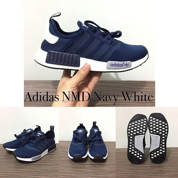 29307e6866de0 Jual sepatu running adidas nmd navy white - Ganda Sport