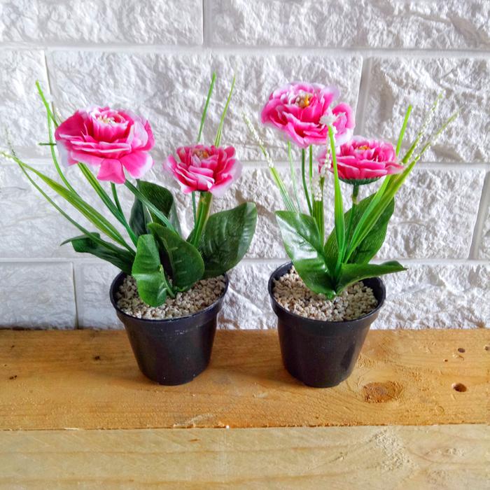 Jual Bunga Mawar Mini Artificial Murah - Tanaman Plastik Hias ... d6406bcd3c