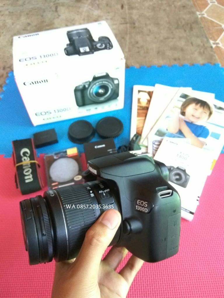 Jual Canon Eos 1300d D1300 600d Kit 18 55mm Iii Wifi Full Bonus Lensa 55 Kamera Dslr Like New Hitam Mohaldy Electronic Kits Tokopedia
